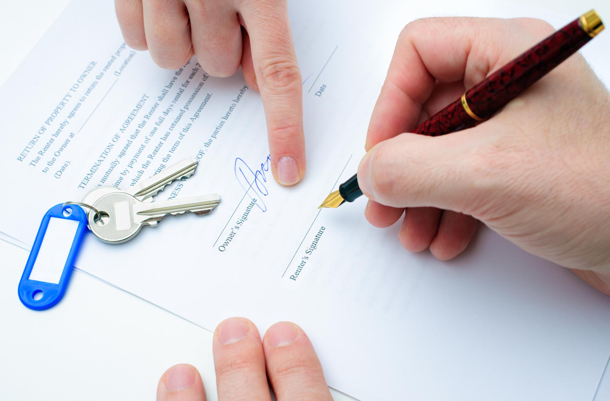 Contrato de arrendamiento o alquiler
