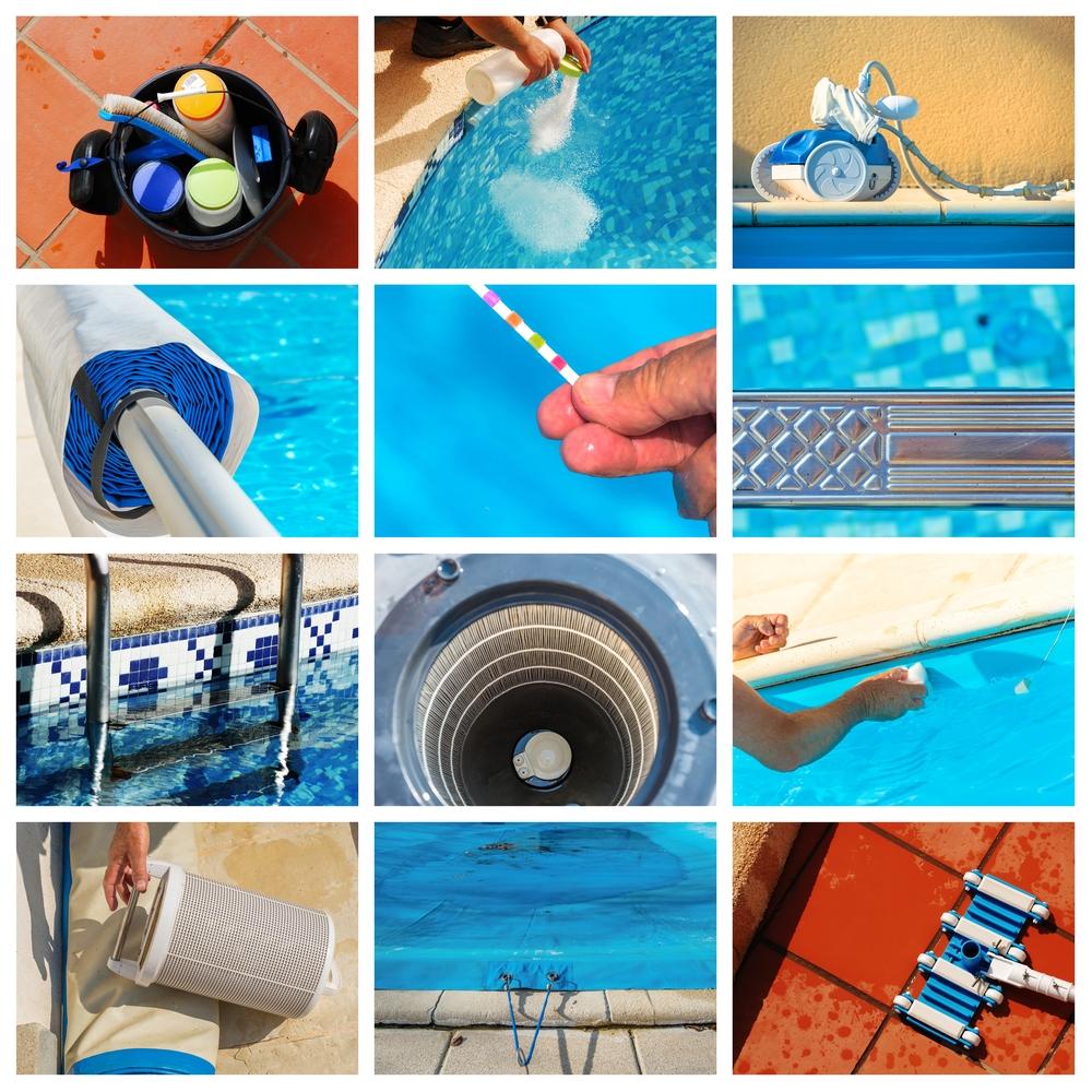 Imágenes que explican el mantenimiento de una piscina