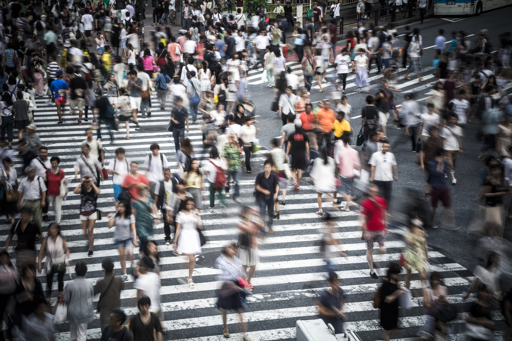 Población en Tokio, Japón