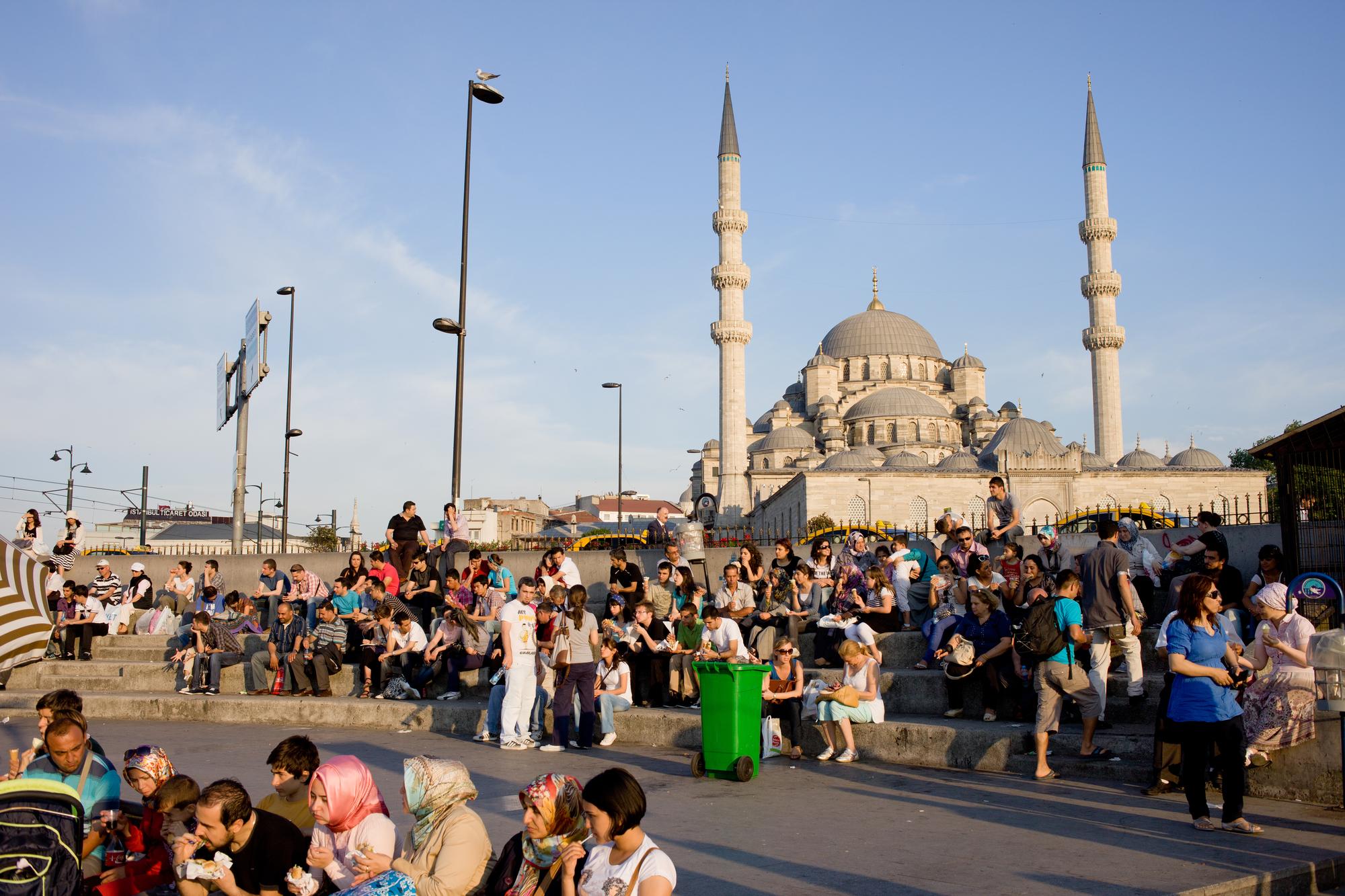 Población en Estambul, Turquía