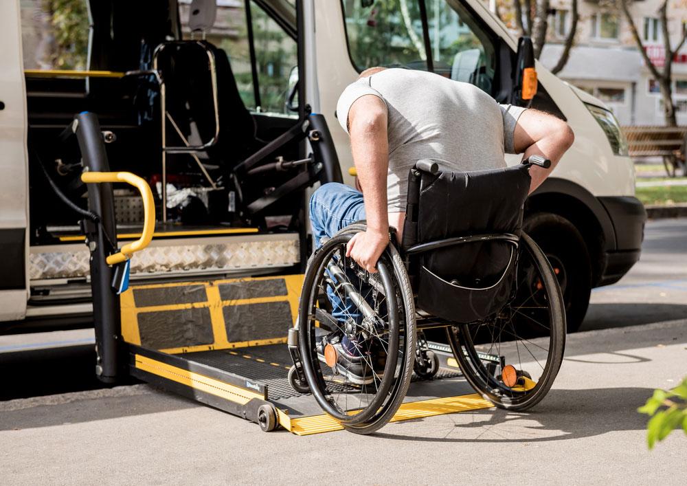 Rampa acceso vehículo minusvalidos